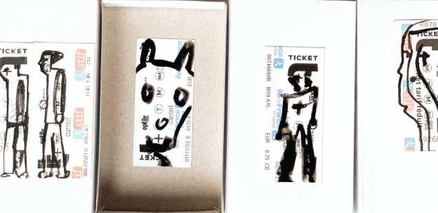 Tickets de métro - cadeaux ludiques artistiques
