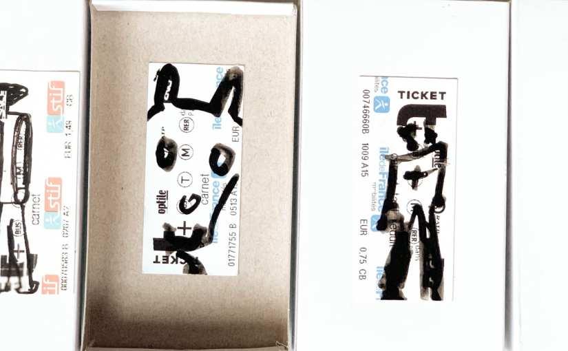 Tickets de métro – cadeaux ludiques artistiques