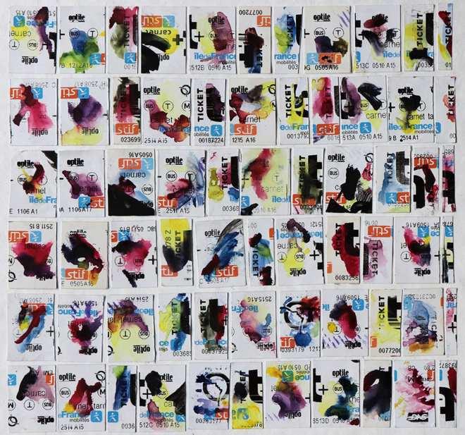 comme des timbres en couleurs