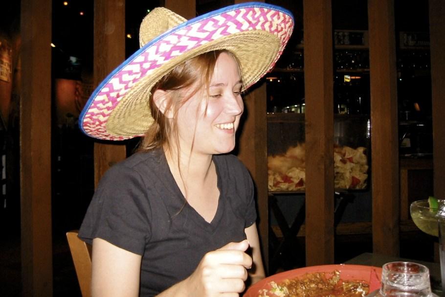 Steph in a Birthday Sombrero