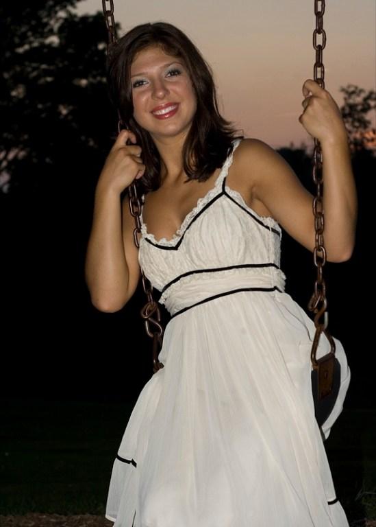 Mandie on swing
