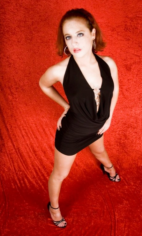 Scarlett standing