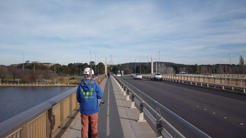 Image of Segway across Commonwealth Avenue Bridge, Canberra