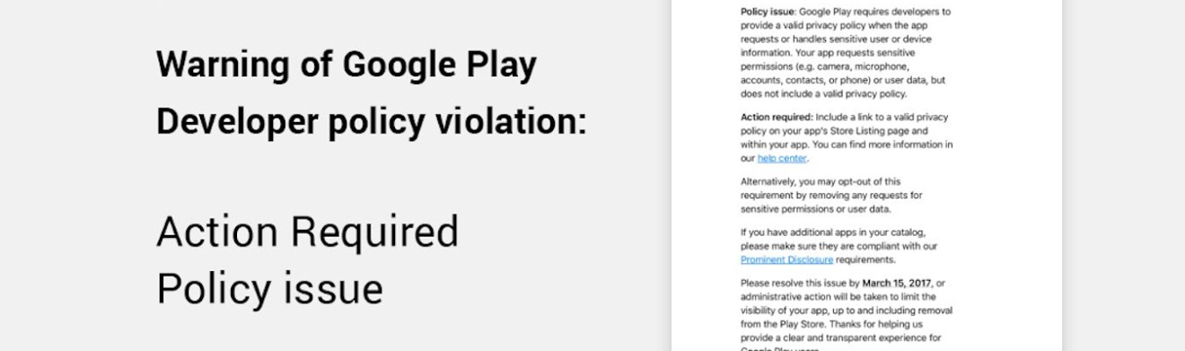 Google Play Developer Policy Generator