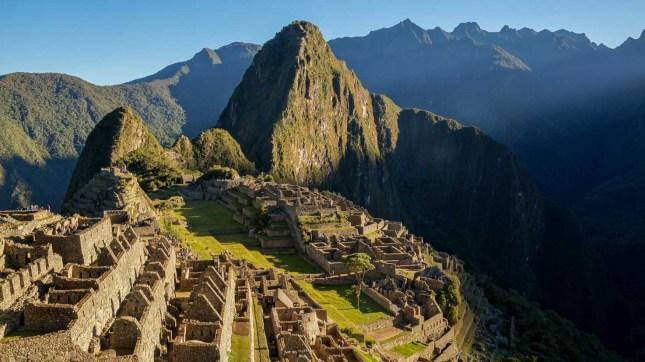 The famous Machu Picchu just after sunrise inPeru