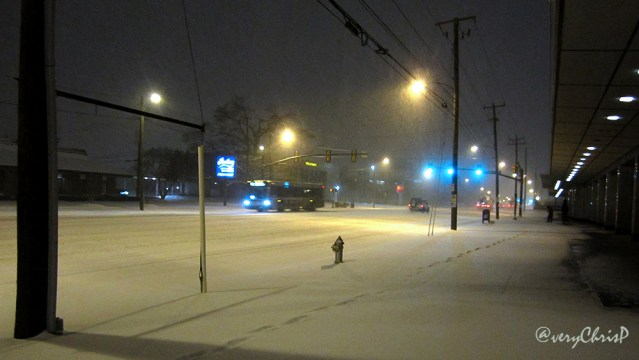 Broad Street was covered in snow