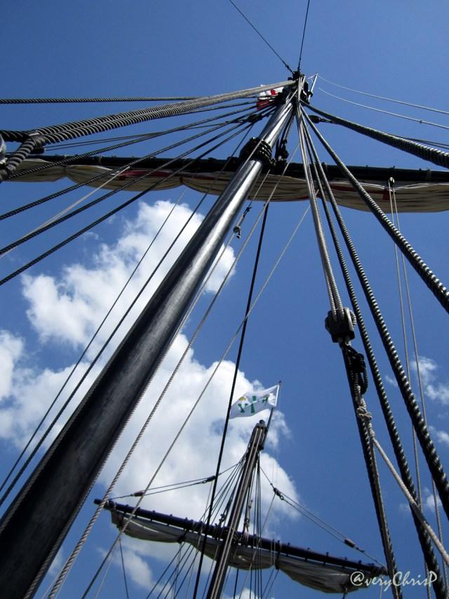 The Pinta's sails