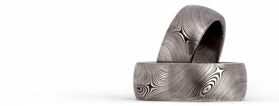 Chris Ploof Designs Meteorite Mokume Gane Amp Damascus