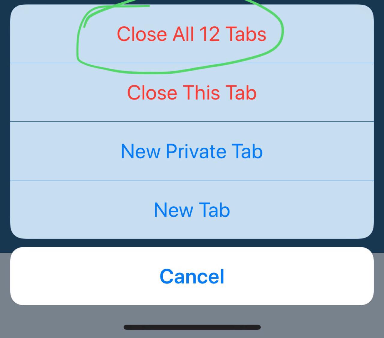 Status: Close Tabs