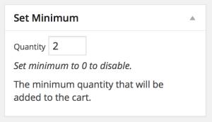 Product Minimums