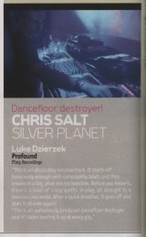 "Guest review by Chris Salt in DJ Mag of Luke Dzierzek's ""Profound"""