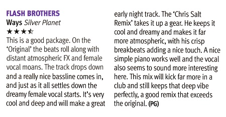 DJ Mag review of Ways