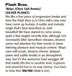 M8 review of Chris Salt remix of Ways