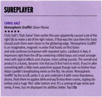DJ Mag review of Chris Salt- Atmospheric Graffiti