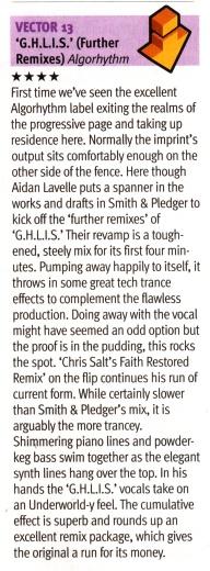 DJ Mag review of V13 - GHLIS (Chris Salt Remix)
