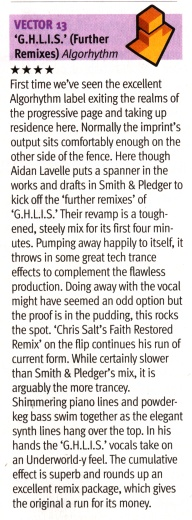 DJ Mag review of V13 - GHLIS (Chris Salt Remix)
