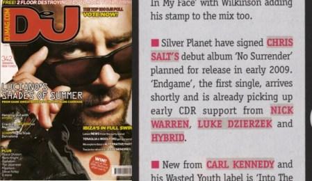 DJ Mag News item about Chris' album