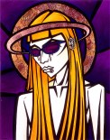 Madonna Glassed painting by Chris Shaw, 2000