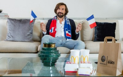 Uber Eats and McDelivery join forces for Football Legend Andrea Pirlo