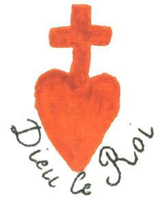 Image:Dieu le Roi, L'insigne qui a le plus rassemblé contre la tyrannie de la Gueuse, le coeur chouan.JPG