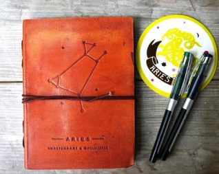 Gift Guide: Soothi Handmade Zodiac Leather Journal