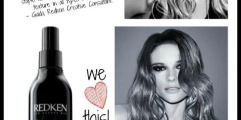 HOT PRODUCT ALERT: Redken Fashion Waves 07 texturizing sea spray