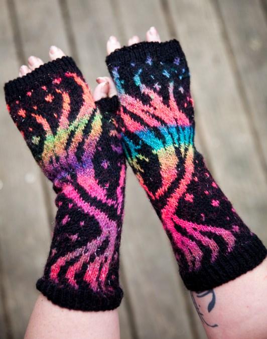 The Phoenix Fingerless Gloves