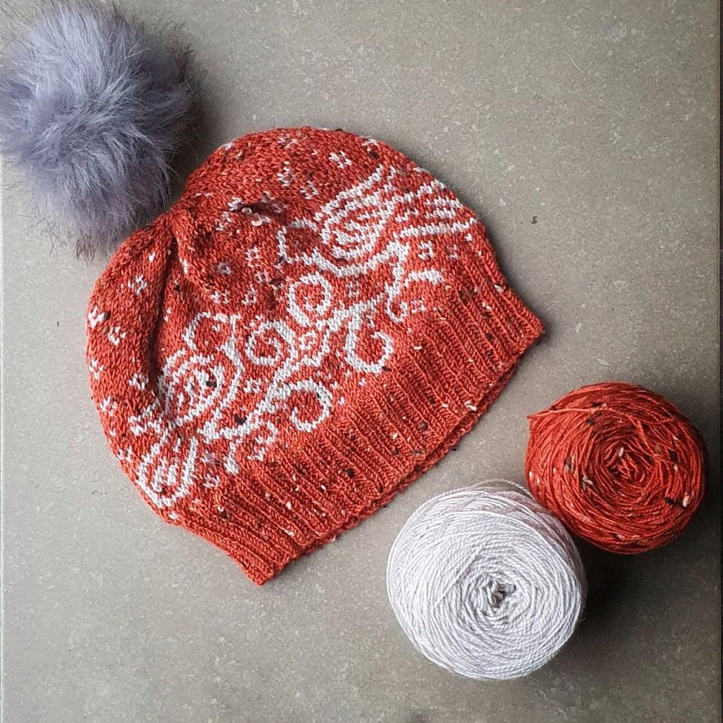 Snow Doves, bonnet en jacquard