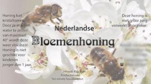 Ontwerp honing etiket