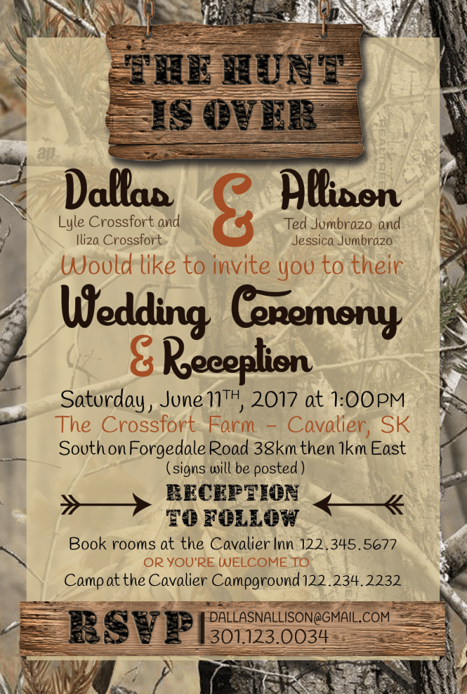 Amazing Hunting Wedding Invitations Hd Picture Ideas For Your Invitation