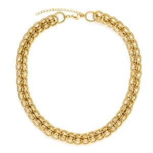 Collier chaines doré à l'or Cassandre