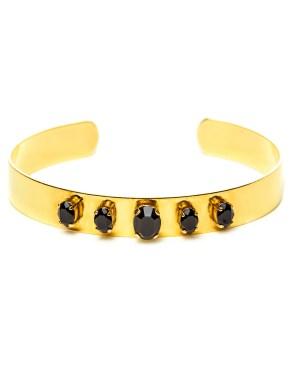 Bracelet doré à l'or avec pierres Swarovski Constance