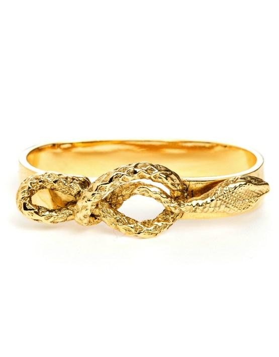 Bague 2 doigts doré à l'or Bérénice