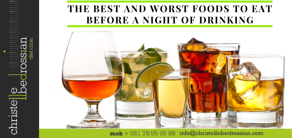 Best and worst food to eat before drinking alcohol