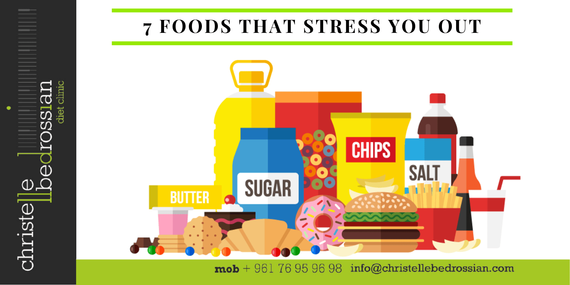 Foods that cause you stress
