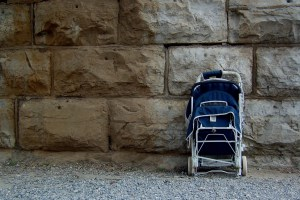 Abandoned stroller in Harper's Ferry