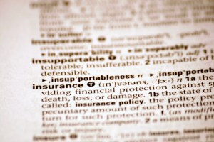 Dictionary - Insurance