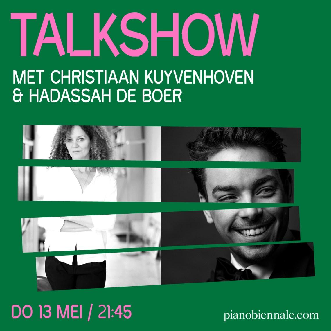 Talkshow nieuw pianofestival Piano Biënnale met Christiaan Kuyvenhoven en Hadassah de Boer
