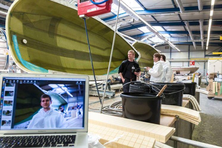 Unternehmensfotografie im Bootsbau