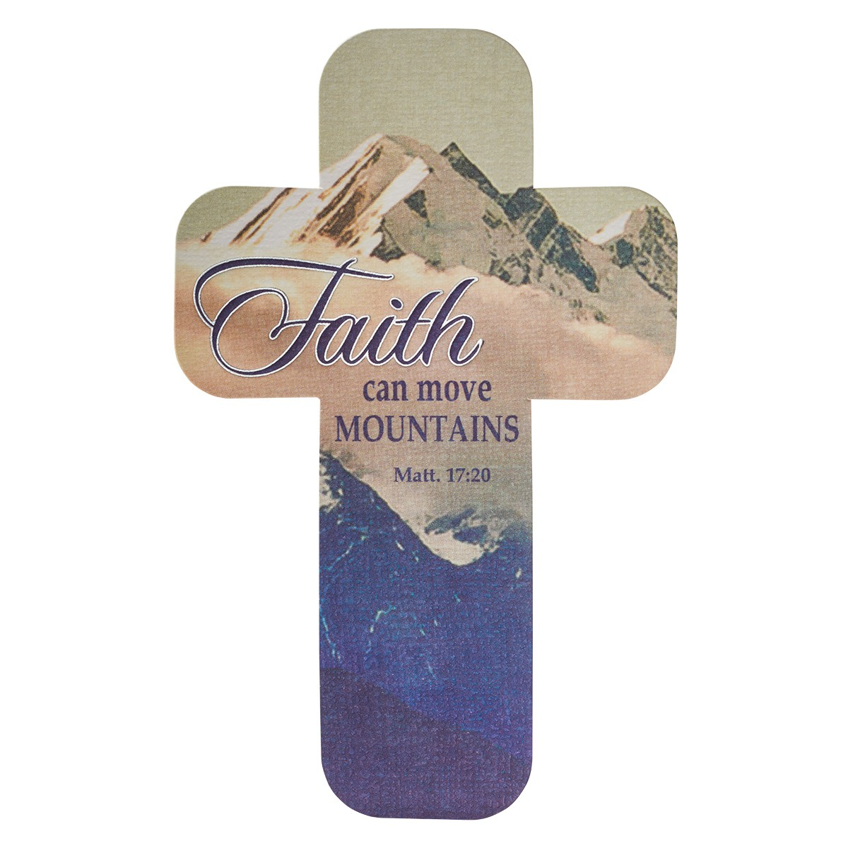 Faith Can Move Mountains Paper Cross Bookmark