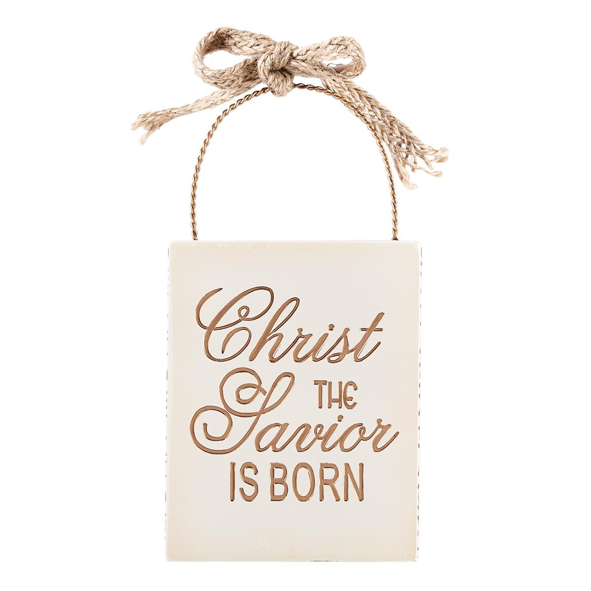 Resin Christmas Ornament Christ The Savior Is Born
