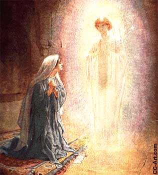 An Angel Visits Mary
