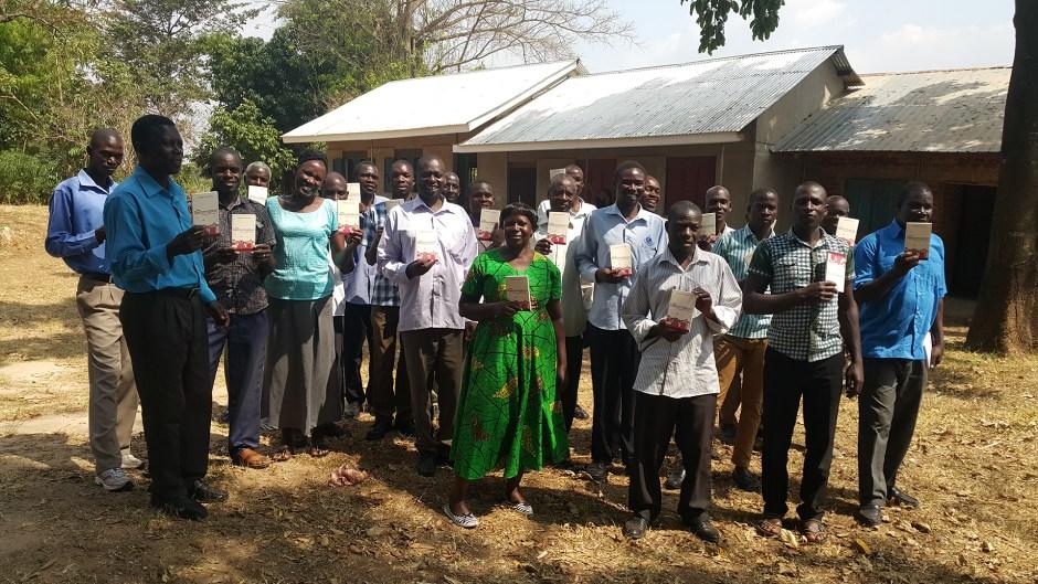 Ugandan pastors with books