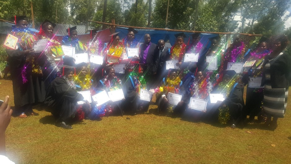 Kenyan Christians with certificates