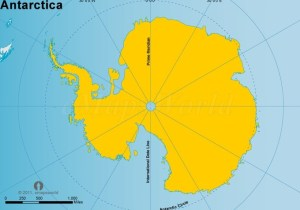 Web World map yellow - Antartica