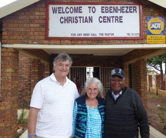Pastors Bill and Carol with Pastor Molefe