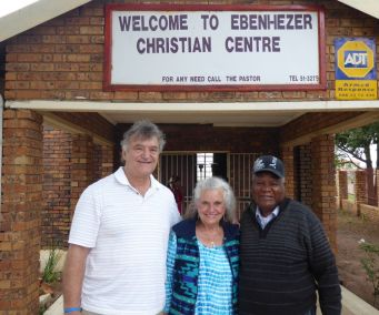 Pastors Bill and Carol with Pastor Molefe