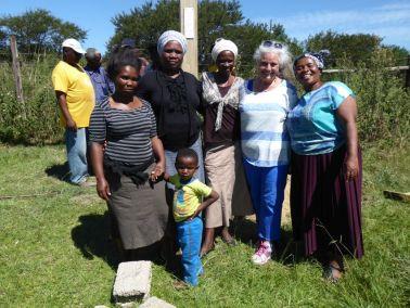 The ladies celebrate the Cross