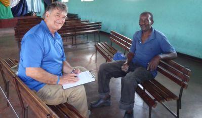 Pastor Bill interviewing Pastor Obert