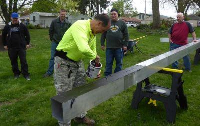 Adding preservative preventing concrete from corroding the aluminum